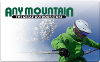 Any Mountain gift card