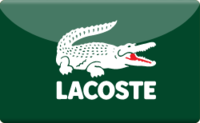 Lacoste gift card
