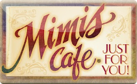 Mimi's Cafe gift card