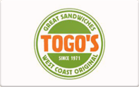 Togo's gift card